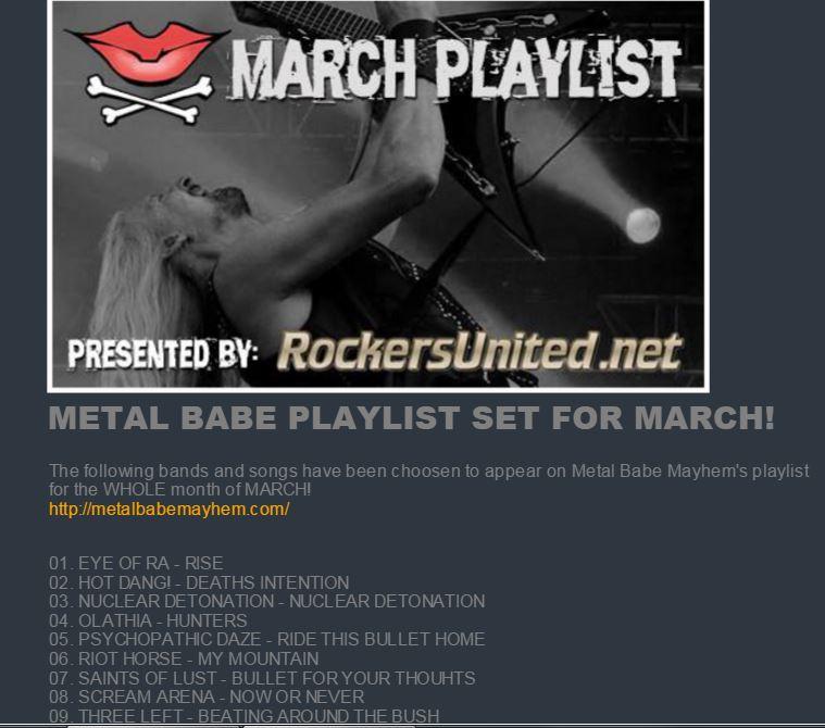 metal babe mayhem playlist